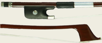 H Luger BBB25 Half-Lined Brazilwood Bass Bow