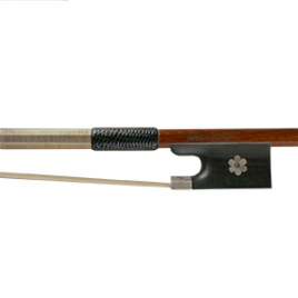Hermann Luger Violin Master Bow- Blossom Inlay