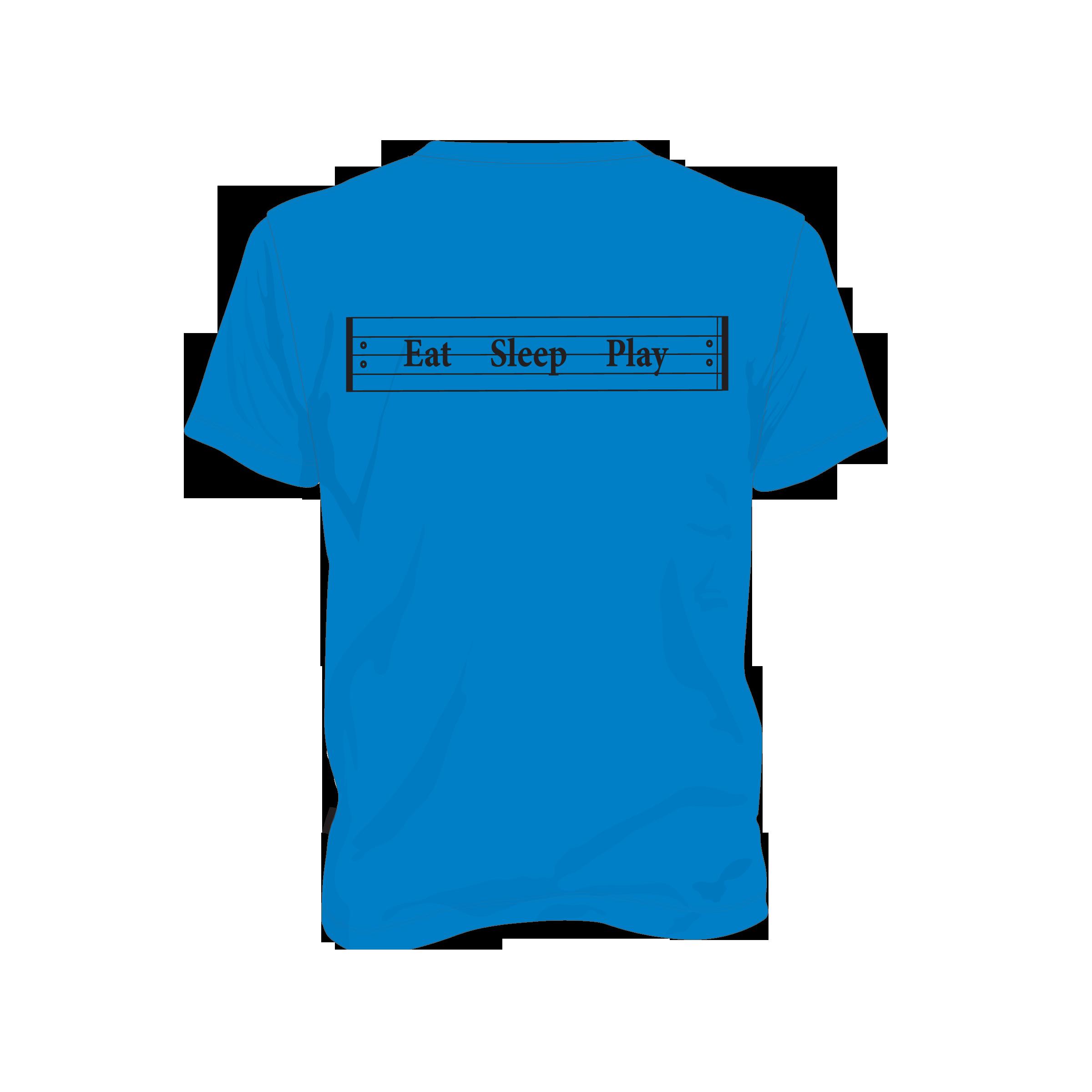 musical tshirt eat sleep play repeat