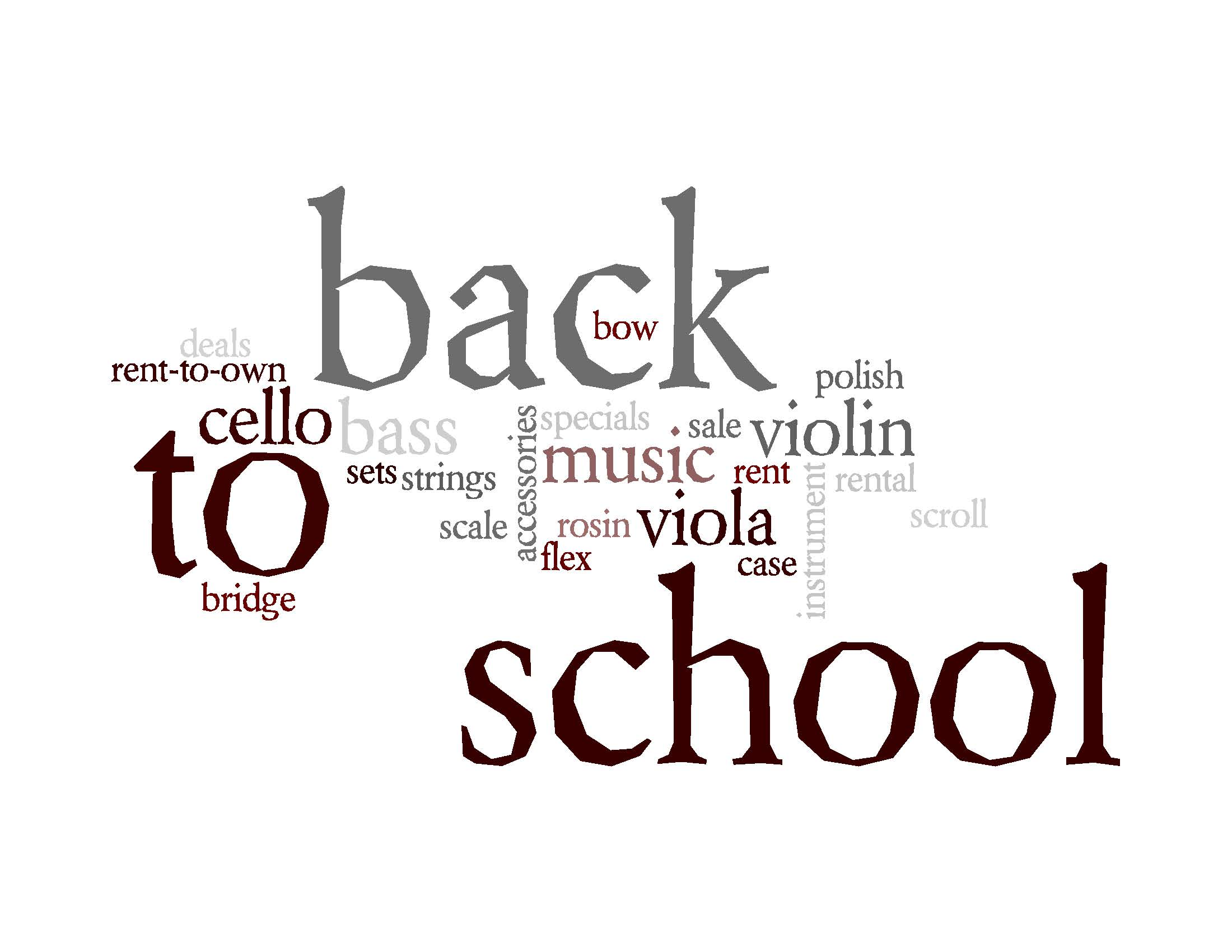 It's Back to School Time at Atlantic Strings!