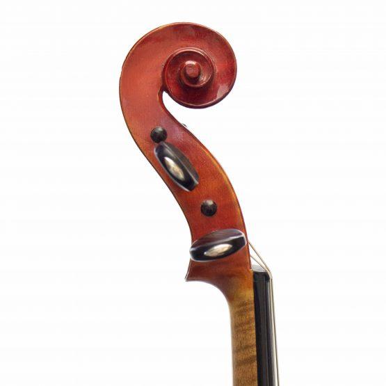1927 Hughes Emile Blondelet Violin scroll