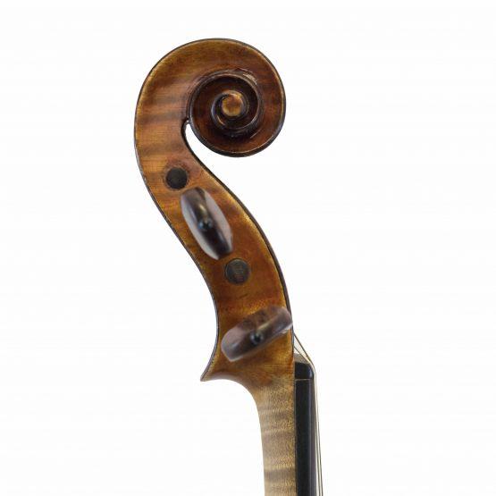 Heinrich Heberlein Violin scroll