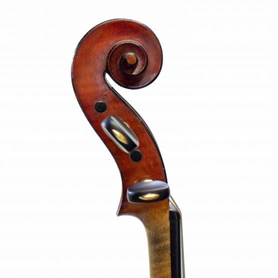 Heinrich Theodore Heberlein Jr. Violin scroll