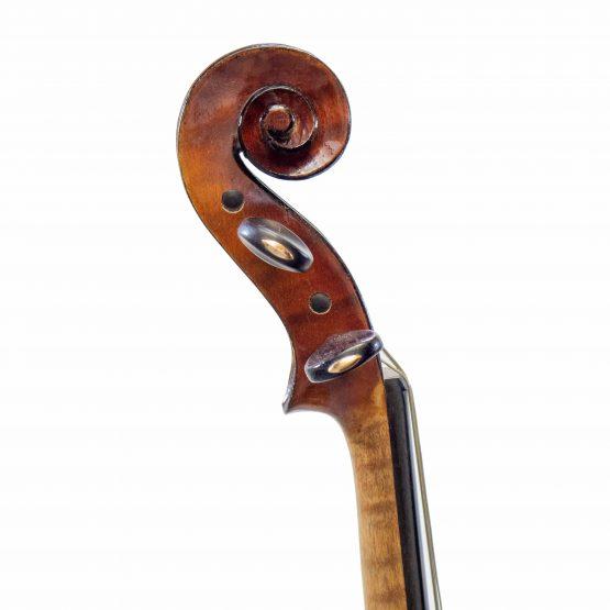 A La Ville Violin by Laberte Humberte scroll