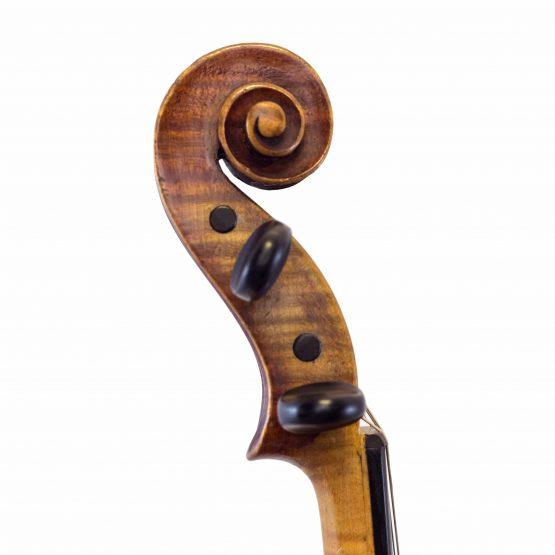 German Steiner Pattern Violin scroll
