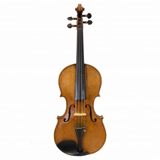1919 Violin labelled Ansaldo Poggi by G. Cunault full front