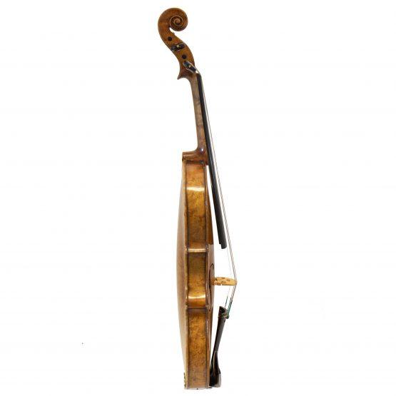 1919 Violin labelled Ansaldo Poggi by G. Cunault full side
