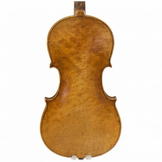 1919 Violin labelled Ansaldo Poggi by G. Cunault back body