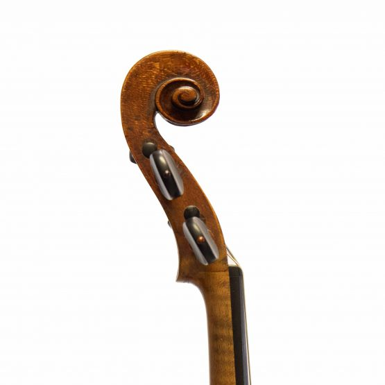 Johann Gottfried Liebich Violin scroll