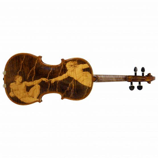 2004 Gliga Vasile Violin on side