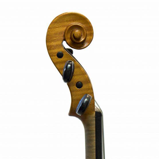 1979 C. Harry Backman Violin scroll