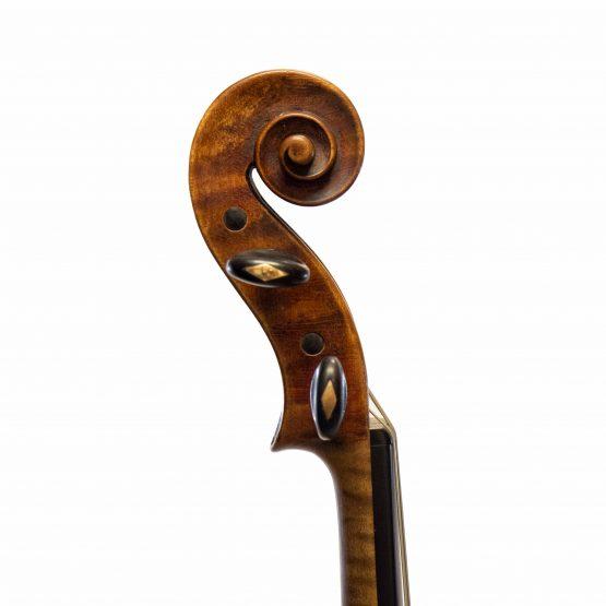 1906 John Friederich Violin scroll